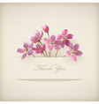 Floral spring Thank you pink flowers card