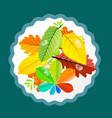 autumn leaves design flat retro colorful vector image