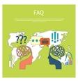 FAQ information sign icon vector image