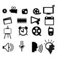 movie icon set vector image