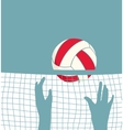 Playing Volleyball with Net vector image