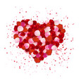 heart shape made out of rose petals isolated on vector image