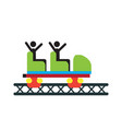 roller coaster chair vector image