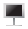 A monitor is placed vector image vector image