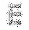 AlphabetOfPointsE vector image vector image