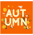autumn maple leaf tree orange background im vector image vector image