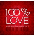 Bright red wedding design element vector image