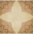 brown corner pattern old background vector image
