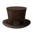 brown cylinder hat isolated on white background vector image