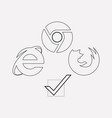 browser compatibility icon line element vector image vector image