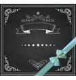 Chalkboard Card with Doodle Hand Sketched vector image vector image