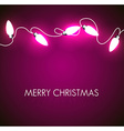 Christmas background with white lights vector image vector image