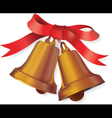 Christmas bell with bow vector image vector image