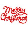 christmas calligraphy vector image vector image