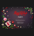 christmas festive party vector image vector image
