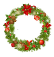 christmas garland frame vector image vector image