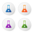 color chemical test tube with marijuana or vector image vector image