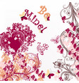 cute valentine or wedding card be mine vector image vector image