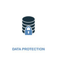 data protection icon in two colors premium design vector image vector image