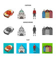 denmark history restaurant and other web icon vector image vector image