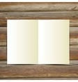 Design Template white blank magazine on the wooden vector image