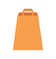 design template with paper bag vector image vector image