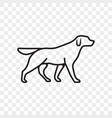 dog pet outline icon vector image vector image
