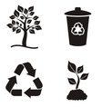 Eco and recycle icons vector image vector image