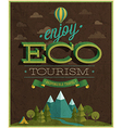 eco tourism vector image vector image