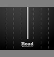 eight lane black road highway background design vector image vector image
