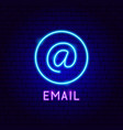 email neon label vector image vector image