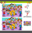 find differences with children characters vector image vector image