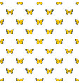 flying butterfly pattern seamless vector image vector image