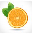 fresh juicy piece orange isolated on white vector image vector image