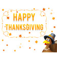 giving thanks for blessing of harvest holiday vector image