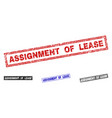 grunge assignment of lease textured rectangle vector image vector image