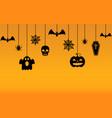 halloween hanging ornaments background vector image vector image