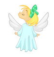 happy angel character smiling cartoon vector image vector image