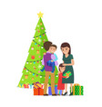 happy family at christmas on vector image vector image