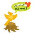 hello summer typographic logo sign on withe vector image vector image