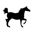 horse icon vector image