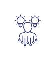 idea generation icon on white line vector image