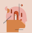 inner world thinking process open mind humans vector image vector image