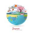 Japan Travel Poster vector image vector image