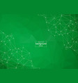 light green background with dots and lines design vector image vector image