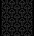line art arrows seamless pattern vector image vector image