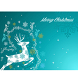 Merry Christmas beautiful vintage reindeer vector image vector image