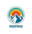 mountains - logo template vector image