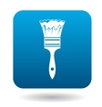 Paint brush icon in simple style vector image vector image
