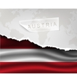 paper with hole and shadows austria flag vector image vector image